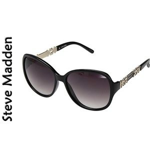 "Steve Madden ""BLACK"" Fashion Sunglasses NEW"